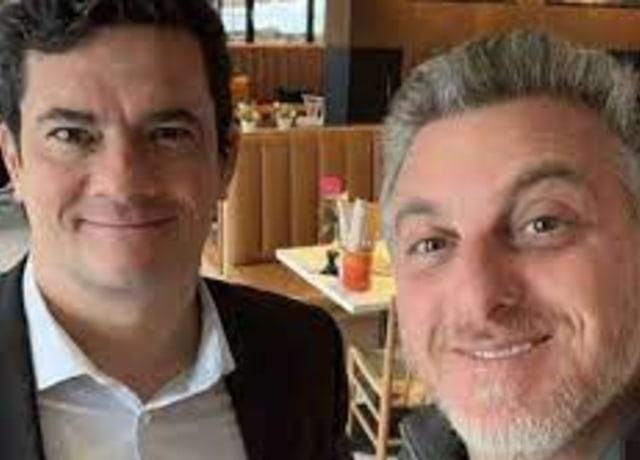 Huck com Sérgio Moro