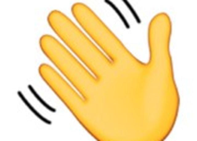 Mão acenando