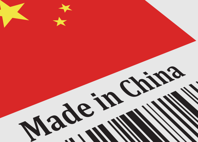 """Selo escrito """"Made in China"""""""