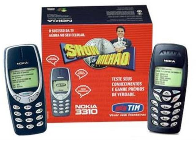 Celular do milhão, com Silvio Santos na caixa.