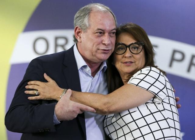 Ciro Gomes com Kátia Abreu, sua vice
