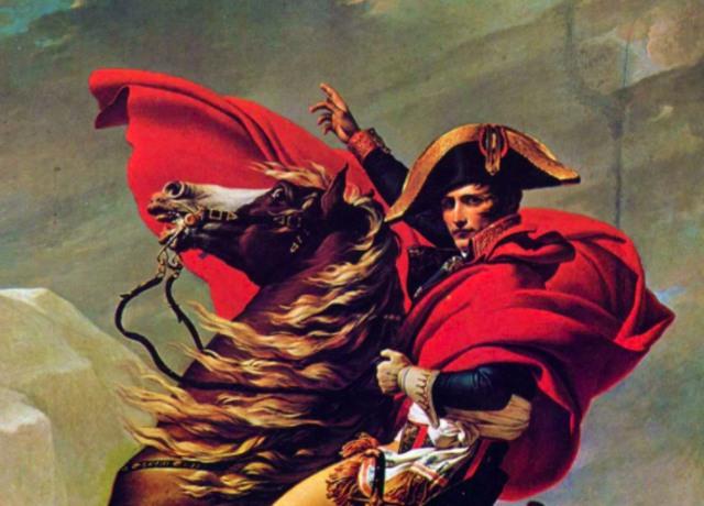 Napoleão em um cavalo marrom