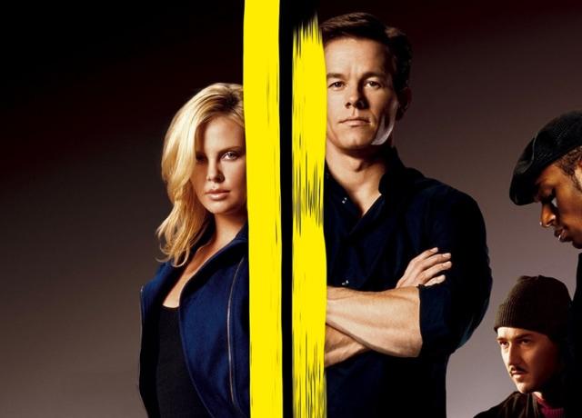 Poster de Uma saída de Mestre, com Charlize Theron e Mark Wahlberg.