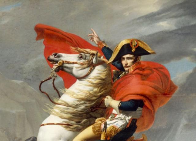 Napoleão em um cavalo branco