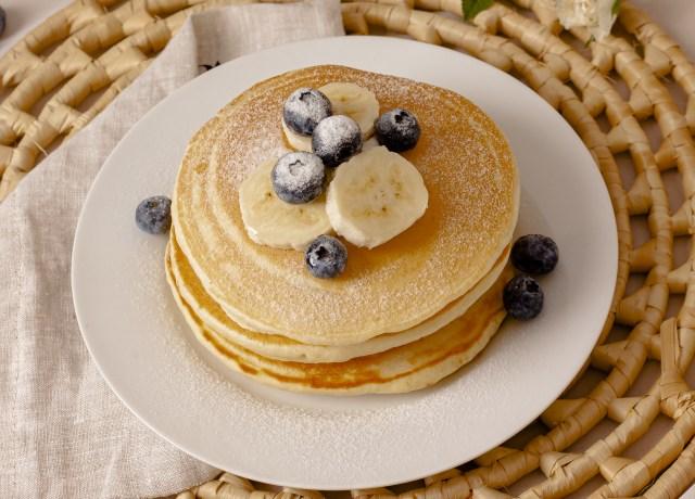 pancake with blackberries