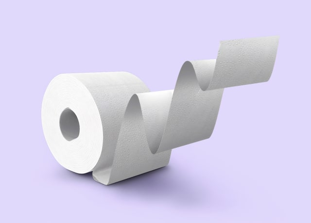 white tissue paper roll on white surface