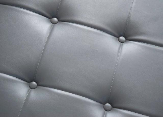 Estofado de couro sintético cinza