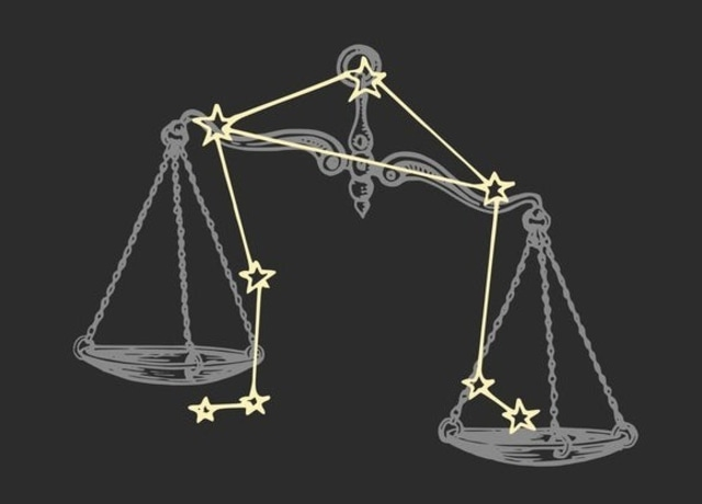 Scale with Libra constellation