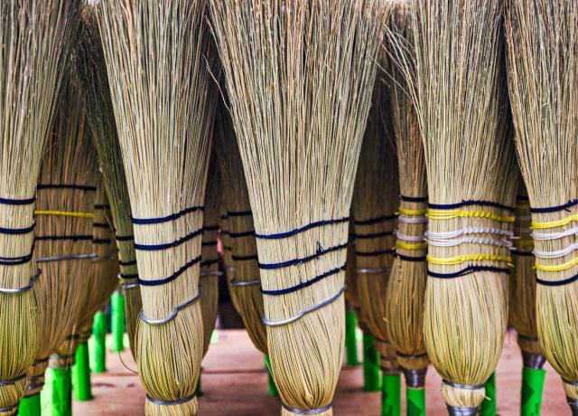 shallow focus photo of broom