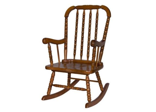 Foto de uma cadeira de balanço resistente.