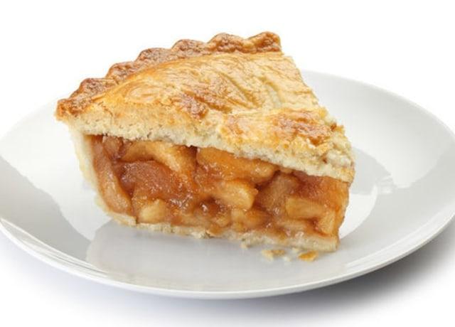 Foto de uma torta de maçã.