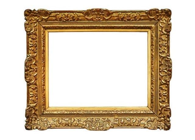 Moldura dourada vazia