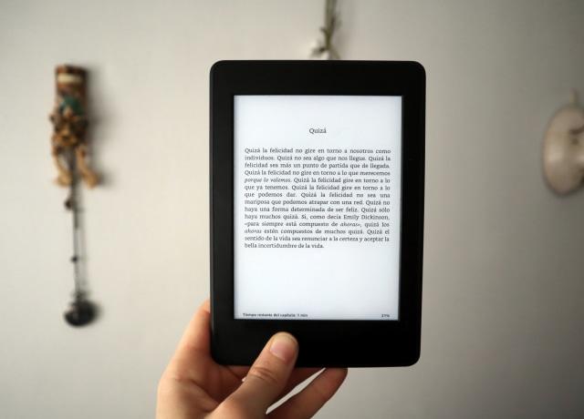 black amazon e book reader