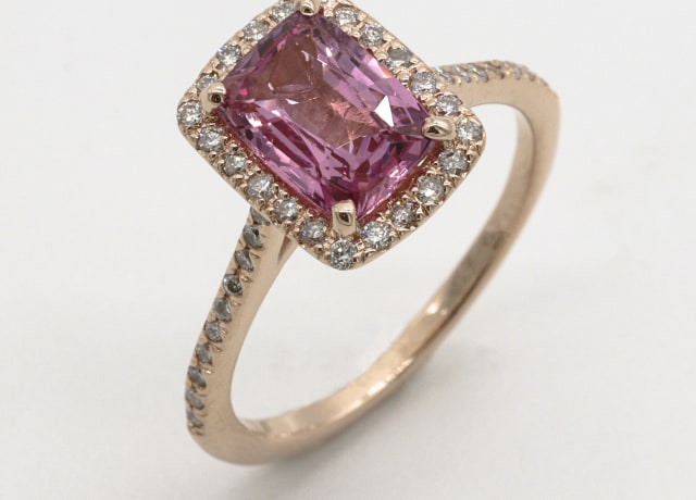 gold and purple gemstone ring