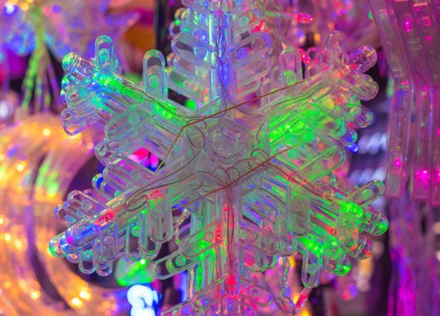 Colorida com floco de neve