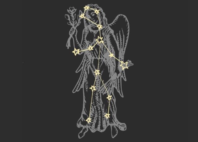 Woman with Virgo constellation