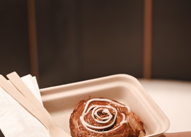 brown pastry on white ceramic tray