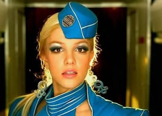 Britney in an air hostess attire