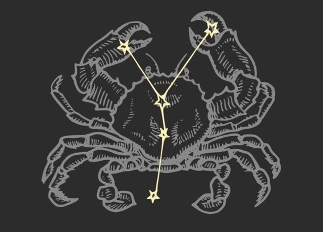 Crab with Cancer constellation