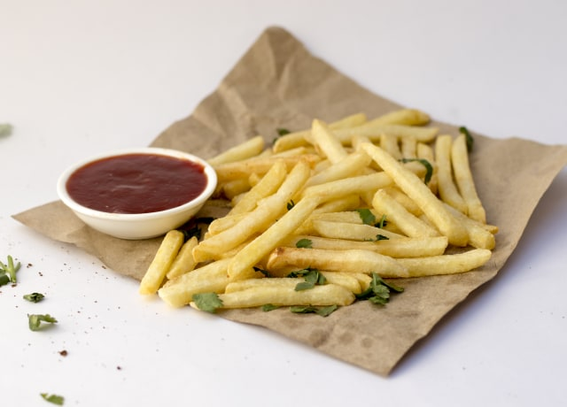 fries and ketchup