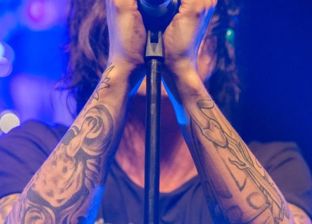 man holding black microphone