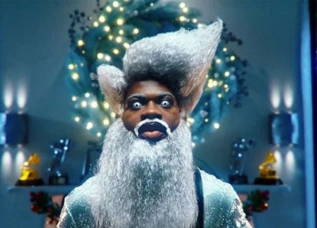 Lil Nas in a Santa Costume from the music video of Holiday