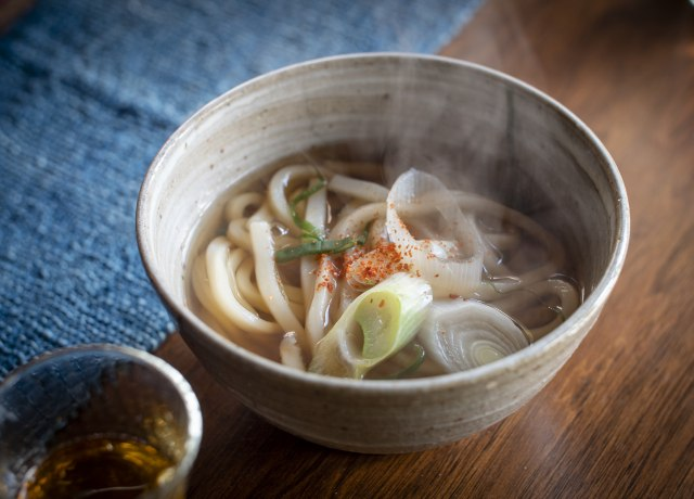 """Nice Japanese noodle lunch called """"Udon."""" Just tasty."""