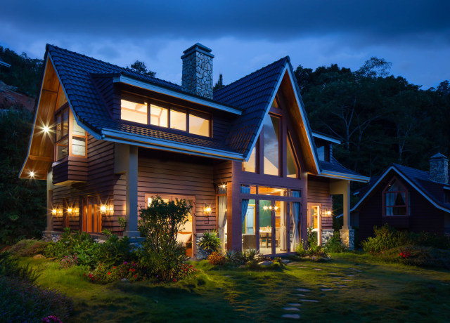 brown and black wooden house