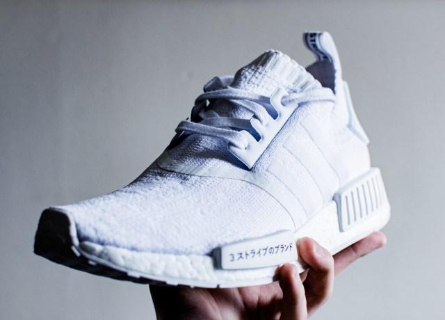 white adidas NMD shoe
