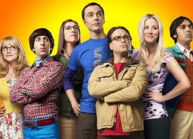 The cast of The Big Bang Theory posing