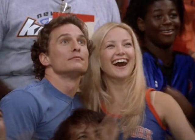 Andie e Ben numa partida dos Knicks