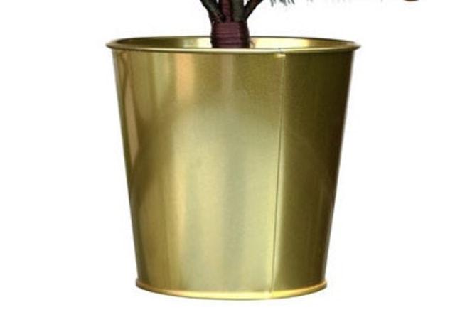 Vaso dourado liso