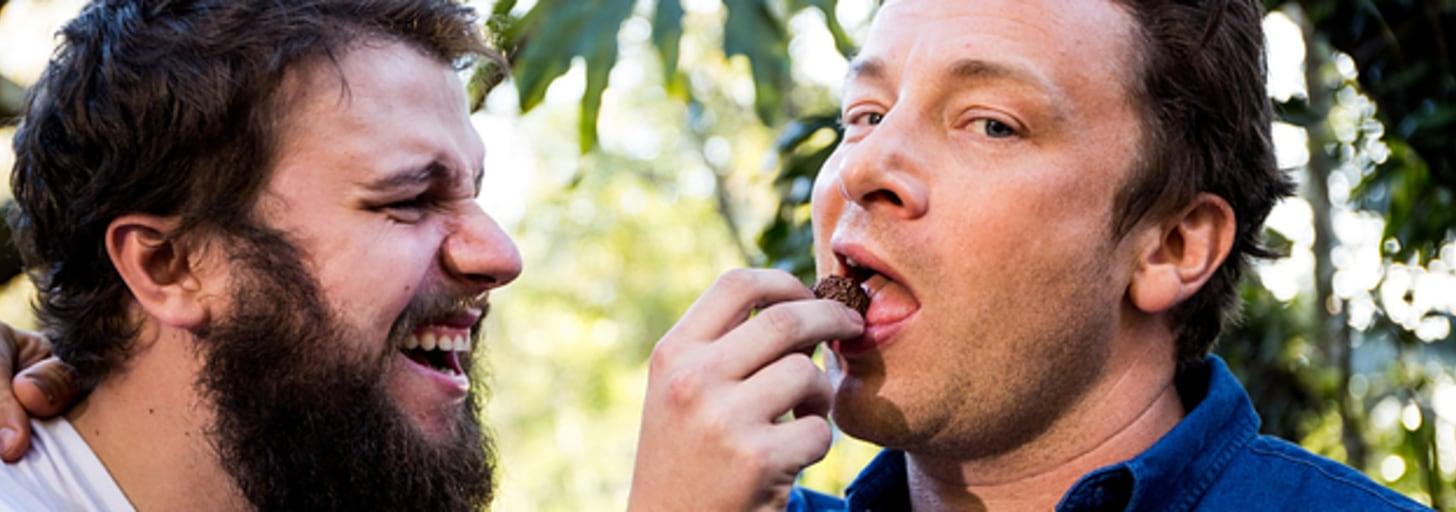 Eu passei um dia inteiro com o Jamie Oliver experimentando sua comida