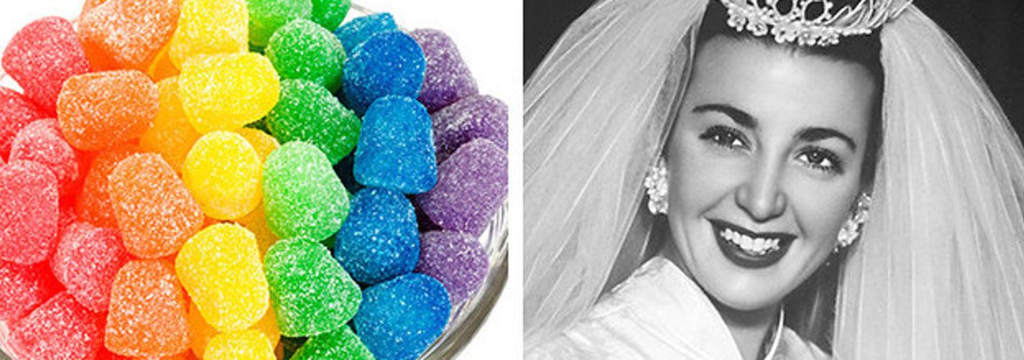Coma 6 doces de todas as cores e diremos com que idade você vai se casar