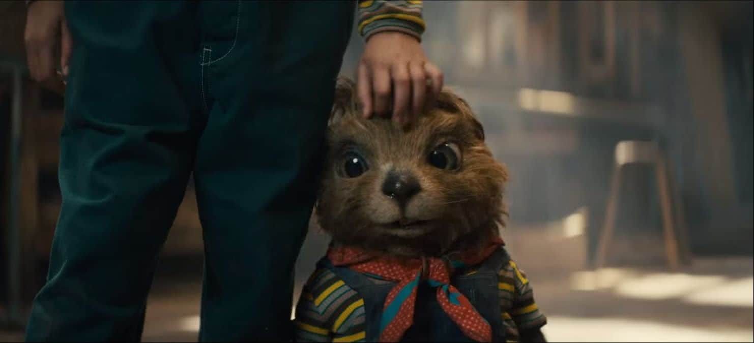 Uma marmota com corpo humano