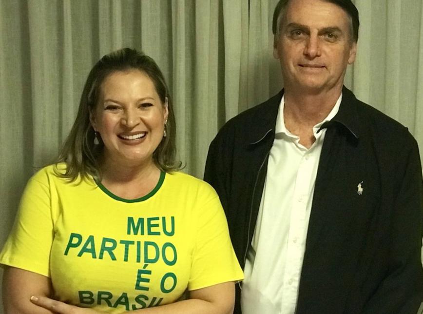 Joice e Bolsonaro