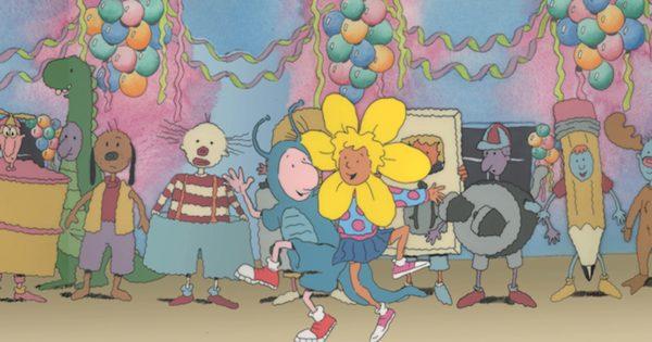 Doug em uma festa fantasia com Paty maionese
