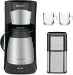 #3 rated for []: Cuisinart DTC975BKN 12 Cup Programable Thermal Coffeemaker Black (New) with Grind Central Coffee Grinder (Refurbished) and 2-Piece 10 oz. ARC Handy Glass Coffee Mug