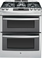 #1 rated in slide-in gas: GE Profile Slide-In Gas Double-Oven Convection Range, scored 81/100