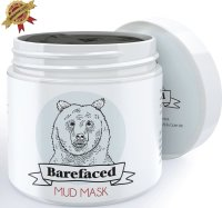 #4 rated in pore tightening: Bearfaced Dead Sea Facial Mud Mask, 6 oz, scored 84/100