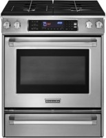 #2 rated in slide-in gas: KitchenAid Pro Line Slide-In Gas Convection Range, scored 74/100