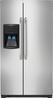 #2 rated in frigidaire: Frigidaire 26 Cu. Ft. Side-by-Side Refrigerator, scored 88/100