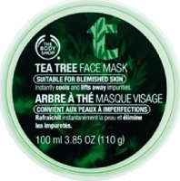 #5 rated in acne: The Body Shop Tea Tree Face Mask, 3.85 oz, scored 87/100