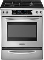 #2 rated in kitchenaid: KitchenAid Architect Slide-In Dual Fuel Convection Range, scored 80/100
