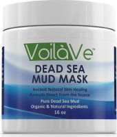 #2 rated in best: VoilaVe Dead Sea Mud Facial Mask, 16 oz, scored 96/100