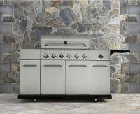 #4 rated in attractive: Kenmore 6 Burner Stainless Steel Front Gas Grill With Storage, scored 95/100