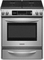 #3 rated in slide-in gas: KitchenAid Architect Series II Slide-In Gas Range, scored 74/100