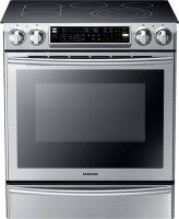 #1 rated in attractive: Samsung Slide-In Electric Double-Oven Convection Range, scored 100/100