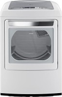 #2 rated in efficient: LG DLEY1201W 7.3 Cu. Ft. Ultra-Large Capacity Front-Control Electric Steam Dryer, scored 99/100