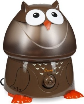 Crane Adorable Ultrasonic Cool Mist Humidifier with 2.1 Gallon Output per Day - Owl